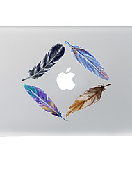 Colourful Feathers Decorative Skin Sticker for MacBook Air/Pro/Pro with Retina