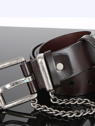 Men's Leather Waist Belt,Vintage