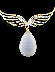 Fashion Vintage Opal  Angel Wings  Brooch