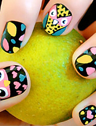 24 части печатных накладных ногтей патч продукты сова ногтей