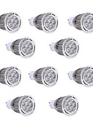 7W GU10 Spot LED 7 SMD 3030 650-700 lm Blanc Chaud / Blanc Froid Décorative V 10 pièces