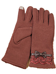 Warmer Touch Screen Knit Gloves (Brown)