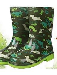 Para Meninos Botas Conforto PVC Casual Botas de Chuva Verde Rasteiro