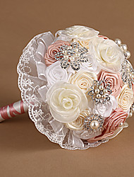 "Wedding Flowers Free-form Peonies Bouquets Party/ Evening Organza 7.48""(Approx.19cm)"