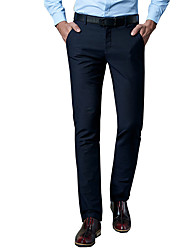 Men's Plus Size Straight / Slim Jeans / Chinos Pants,Going out / Casual/Daily / Work Vintage / Simple / Street chic Solid Low RiseZipper