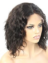 Short Hair Cut Lob Wavy Glueless Lace Front Wig 130% Density