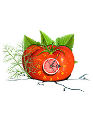 Modern/Contemporary Houses 3D Wall Clock Tomato  Indoor Clock