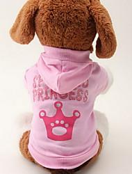 Gatos / Cães Camisola com Capuz Rosa Roupas para Cães Primavera/Outono Tiaras e Coroas Da Moda