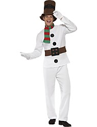 Newest White Snowman Costumes Male Christmas Costumes White Gentleman Christmas Clothes Adult Stage Performance Clothes