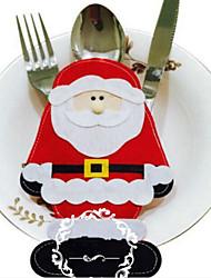 2pcs Санта-Клаус набор столовых приборов рождественские украшения