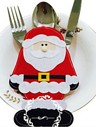 2PCS Santa Claus Cutlery Set Christmas Decorations