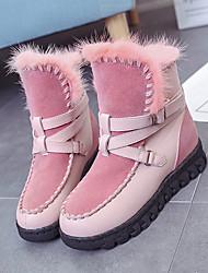 Women's Boots Winter Comfort Fur Casual Black / Pink / Dark Gray