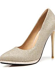 Women's Heels Spring Summer Fall Platform Synthetic Glitter Wedding Casual Party & Evening Stiletto Heel Platform Sparkling GlitterPurple