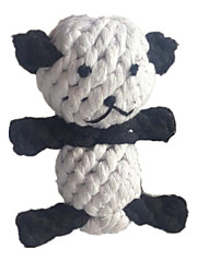 Cat Toy Dog Toy Pet Toys Chew Toy Teeth Cleaning Toy Rope Panda Woven Textile