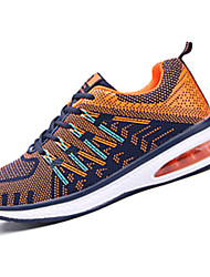 Feminino-Tênis-Conforto-Rasteiro-Preto Roxo Coral Azul Real-Couro Ecológico-Para Esporte