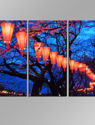 VISUAL STAR 3 Panel Lantern  Planet Photos Print on Canvas Wall Decoration Canvas Art Ready to Hang