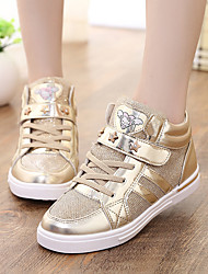 Girl's Sneakers Fall / Winter Comfort Leatherette Casual Pink / Silver / Gold