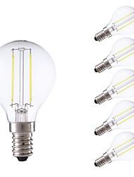 2W E14 LED лампы накаливания P45 2 COB 250 lm Тёплый белый / Холодный белый AC 220-240 V 6 шт.