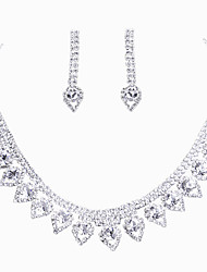 Heart Style Rhinestone Necklace Set -A