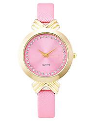 XU Women Fashion Tie Diamond Scale Thin Belt Watch