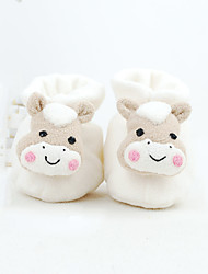 Girl's Baby Flats Fall Winter Others Cotton Casual Flat Heel Bowknot Animal Print White Others