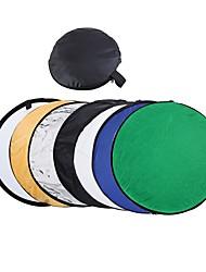 80cm 7 in 1 32 bunten Reflektor tragbare Fotostudio zusammenklappbar Lichtreflektor Multi Foto Disc