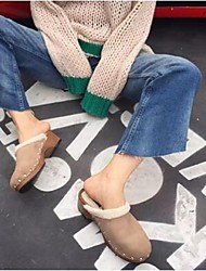 2016 new winter big money in Europe and America with suede clogs Style: mlc-1