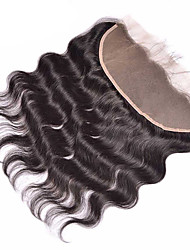 Human Hair free parting Virgin hair Body Wave lace front closure bleached knots 13*4 size lace frontal with bady hair