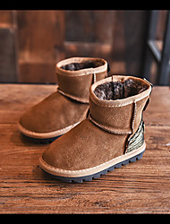 Girl's Boots Winter Comfort Suede Casual Black / Brown / Green