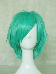 vocaloid 35 centímetros desgrenhado mergulhado verde de festa curto anime hitman reborn peruca cosplay