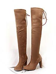 Women's Boots Spring / Fall / Winter Platform Fleece Outdoor / Office & Career / Dress / Casual Chunky HeelBlack / Red / Gray / Nude /