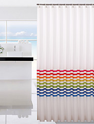 1PC 180*180cm Rainbow Shower Curtain Waterproof Mildew Thickening New Environmentally Friendly Polyester Cloth Partition Ring Sending Bathroom Shower