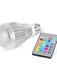 RGB LED10w Colorful Intelligent Remote Control Bulb With Power Memory