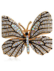 Women's Fashion Alloy/Rhinestone Brooches Chic Pin Party/Daily/Casual Butterfly Shape Jewelry Accessory 1pc