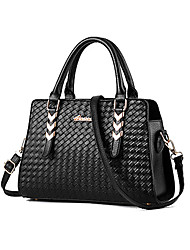 M.Plus® Women's Fashion Knit PU Leather Messenger Shoulder Bag/Handbag Tote