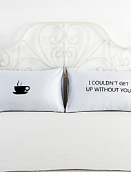 Letters Couple Decorative Bed Pillowcase Valentine's Day Gift Body Pillow Case Romantic 2Pcs 50cmx75cm