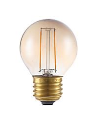 2W E26/E27 LED лампы накаливания G16.5 2 COB 160 lm Янтарный Регулируемая V 1 шт.