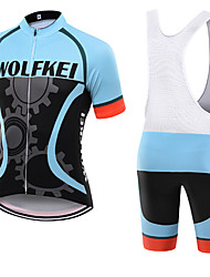 WOLFKEI Summer Cycling Jersey Short Sleeves BIB Shorts Ropa Ciclismo Cycling Clothing Suits #21