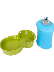 Dog Bowls & Water Bottles Pet Bowls & Feeding Waterproof / Foldable / Casual/Daily Green / Blue Silicone / Plastic