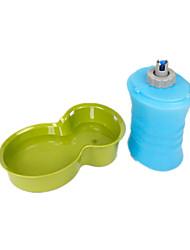 Cachorro Tigelas e Bebedouros Animais de Estimação Tigelas e alimentação de animais Prova-de-Água / Dobrável / Casual Verde / Azul