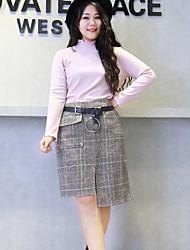 Damen Einfach Street Schick Asymmetrisch Röcke Bodycon,Geschlitzt Geometrisch