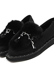 Damen-Loafers & Slip-Ons-Lässig-Andere TierhautOthers-Schwarz / Grau