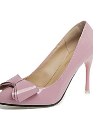 Women's Heels Spring Fall Comfort PU Casual Low Heel Black Pink Red Beige Other