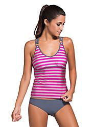 Women's Fine Stripe Striped Strappy Two Piece Swimsuit