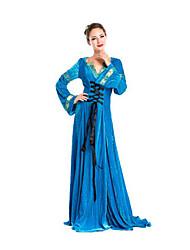 Fête / Célébration Déguisement Halloween Bleu Couleur Pleine Jupe Halloween / Noël / Carnaval Féminin