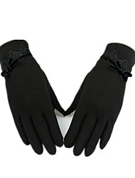 (NOTE - BLACK) WOMEN'S AUTUMN WINTER THERMAL INSULATION AND TOUCH SCREEN GLOVES