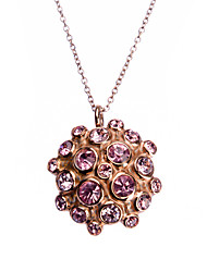 mode titane acier incrusté pleine fleur strass quatre collier pendentif
