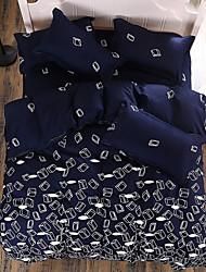 Floral duvet cover sets Padrão de 4 peças reativo impressão dupla gêmea rainha rei capa de edredão 1pc 2pcs shams folha plana de 1pc