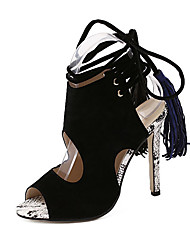 Women's Sandals Summer Others Suede Casual Black