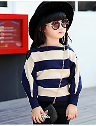 Girl Casual/Daily Striped Blouse,Cotton Winter